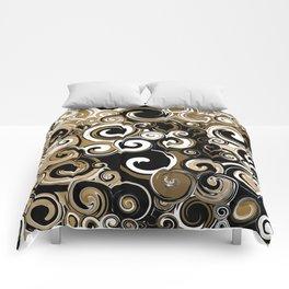 Coffee Swirls Comforters
