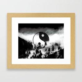 Yin Yang Forest Framed Art Print
