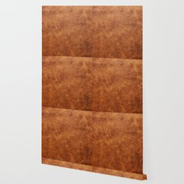 Brown vintage faux leather background Wallpaper