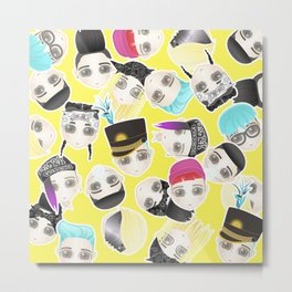 BIGBANG Collage (Yellow) Metal Print