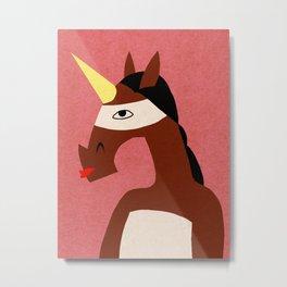 Masked Unicorn V02 Metal Print