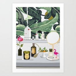 The Fragrance Cabinet Art Print