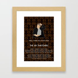 The Six Thatchers - Greg Lestrade Framed Art Print