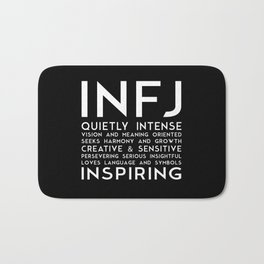 INFJ (black version) Bath Mat