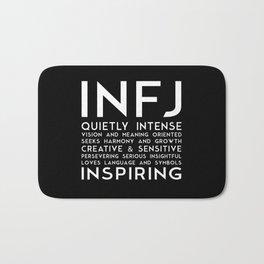 INFJ (black version) Bath Mat