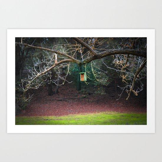 Park Birdhouse Art Print
