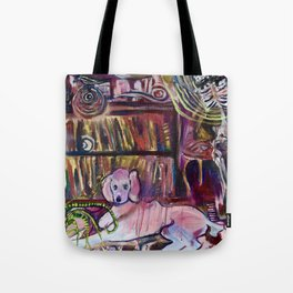 """Magic Poodle Land"" by Lindsay Wiggins Tote Bag"