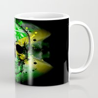 jamaica Mugs featuring Jamaica circuit Skull. by seb mcnulty