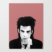 nick cave Canvas Prints featuring nick cave by tama-durden