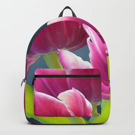 Tulip Bouquet Spring Atmosphere #decor #society6 #buyart Backpack