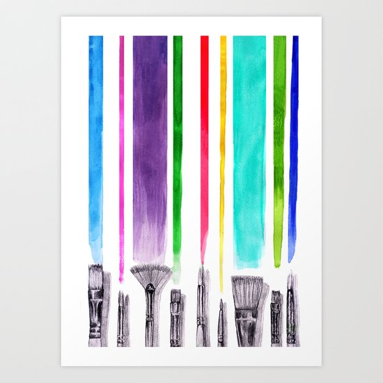 Paint brushes Art Print