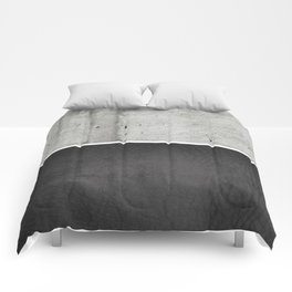 Raw Concrete and Black Leather Comforters