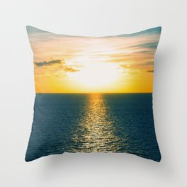 Sunset in July Throw Pillow