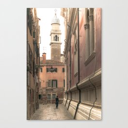 living in Venice 2  Venitian street life simply Canvas Print