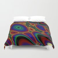 quilt Duvet Covers featuring Fractal Quilt by Warwick Wonder Works