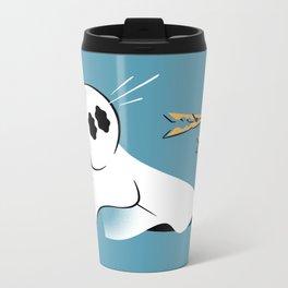A Fearful Phantom (Teal) Metal Travel Mug
