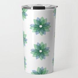 Geo Spring Flowers 01 Travel Mug