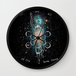 We are all of the same source Wall Clock