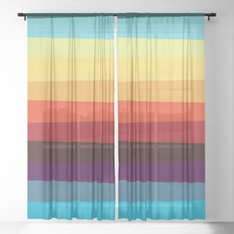 WILLY WONKY STRIPES Sheer Curtain