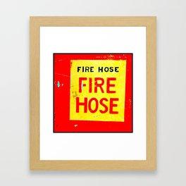 Fire Hose Framed Art Print