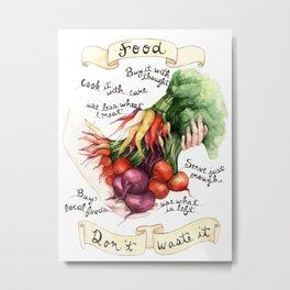 Food Poster Metal Print