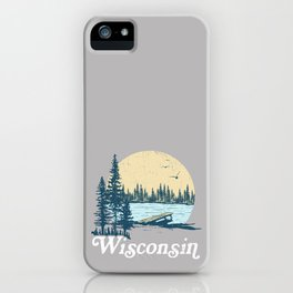 Vintage Wisconsin Dock on a Lake iPhone Case