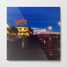 Early Morning at Dolles Coastal Landscape Photograph - Boardwalk Artwork Metal Print