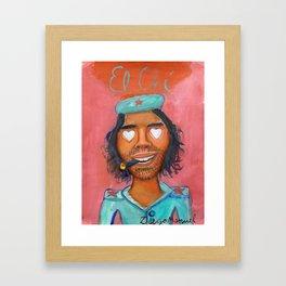 Che Guevara and hearts 4 Framed Art Print