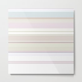Stripes and Pastels Sands of Time Pattern Metal Print
