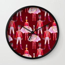 Nutcracker Ballet - Berry Red Wall Clock