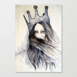 Snow Storm // Fashion Illustration Canvas Print