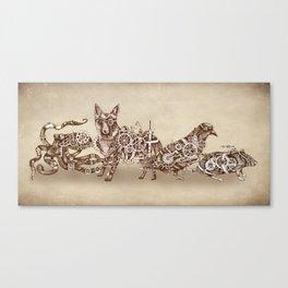Steampunk Animals 4 Canvas Print