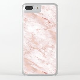 Grandiose rose gold marble Clear iPhone Case