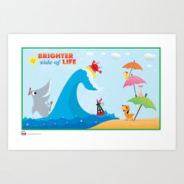 Brighter Side of Life. The Beach! Art Print