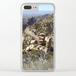 Road to the Desert Mountain Clear iPhone Case