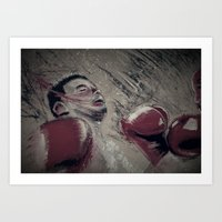 boxing Art Prints featuring boxing by aaron ebanks