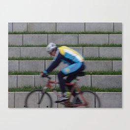 unstable cyclist Canvas Print