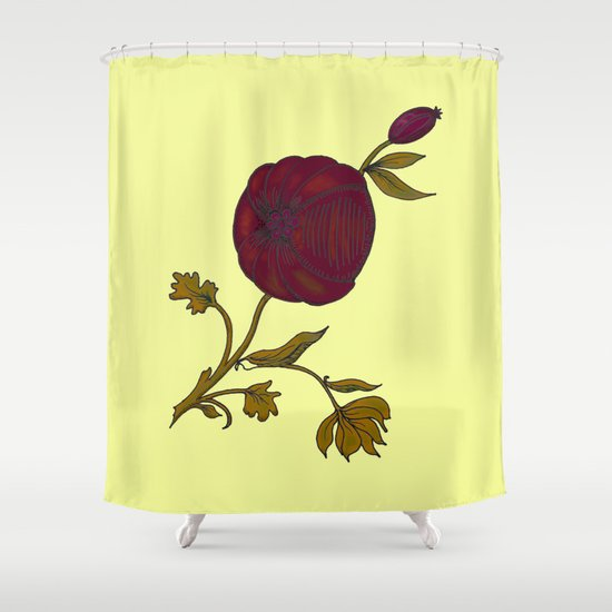 simple decorative pomegranate 3 Shower Curtain