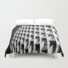 Hotel Balconies-B&W Duvet Cover