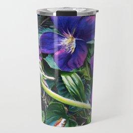 Dandelion with Violets Travel Mug