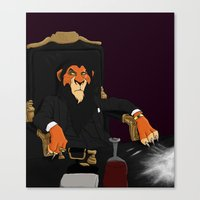 scarface Canvas Prints featuring Scarface by Misha Libertee