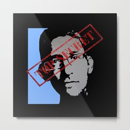 EDWARD SNOWDEN - TOP SECRET Metal Print