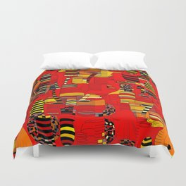 Grand Finale - Red Sky Duvet Cover