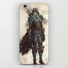 Sylvanas Windrunner Dark Lady night elf rougue sketch iPhone Skin