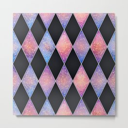 Abstract rich geometric pattern with glitters Metal Print