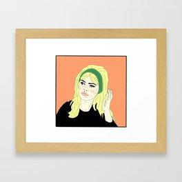 TU VEUX OU TU VEUX PAS Framed Art Print