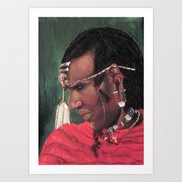 Masai Warrior    Art Print