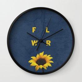 Concrete Sunflower Wall Clock