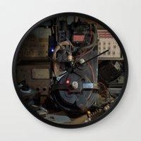 "ghostbusters Wall Clocks featuring Ghostbusters - ""Workbench""  by Matthew Clark"