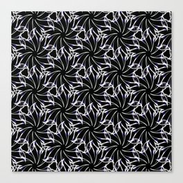 Black And Whte Floral Canvas Print